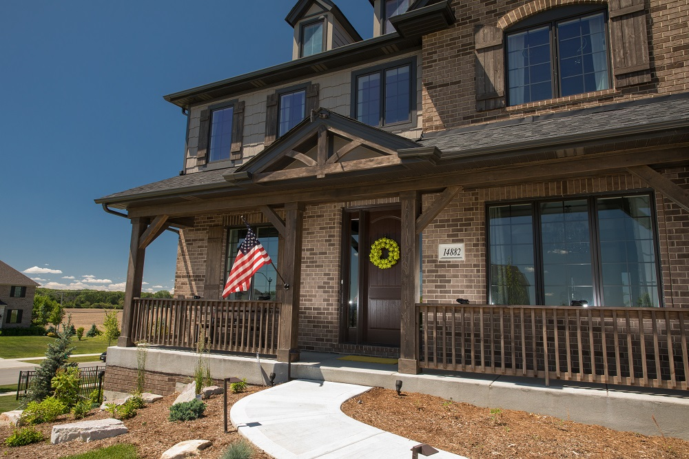 Porch at Beechen and Dill Homes in Orland Park