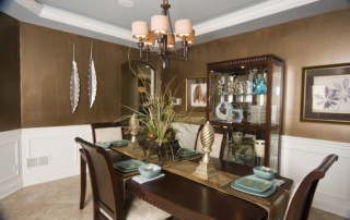 Dining Room in Beechen and Dill Cascade Model Home