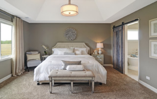 Bedroom in Custom Beechen and Dill Home for Sale