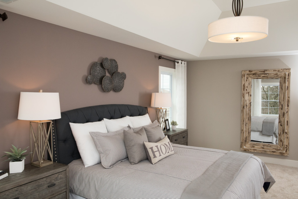 Master Bedroom in Custom Chicago Suburbs Home