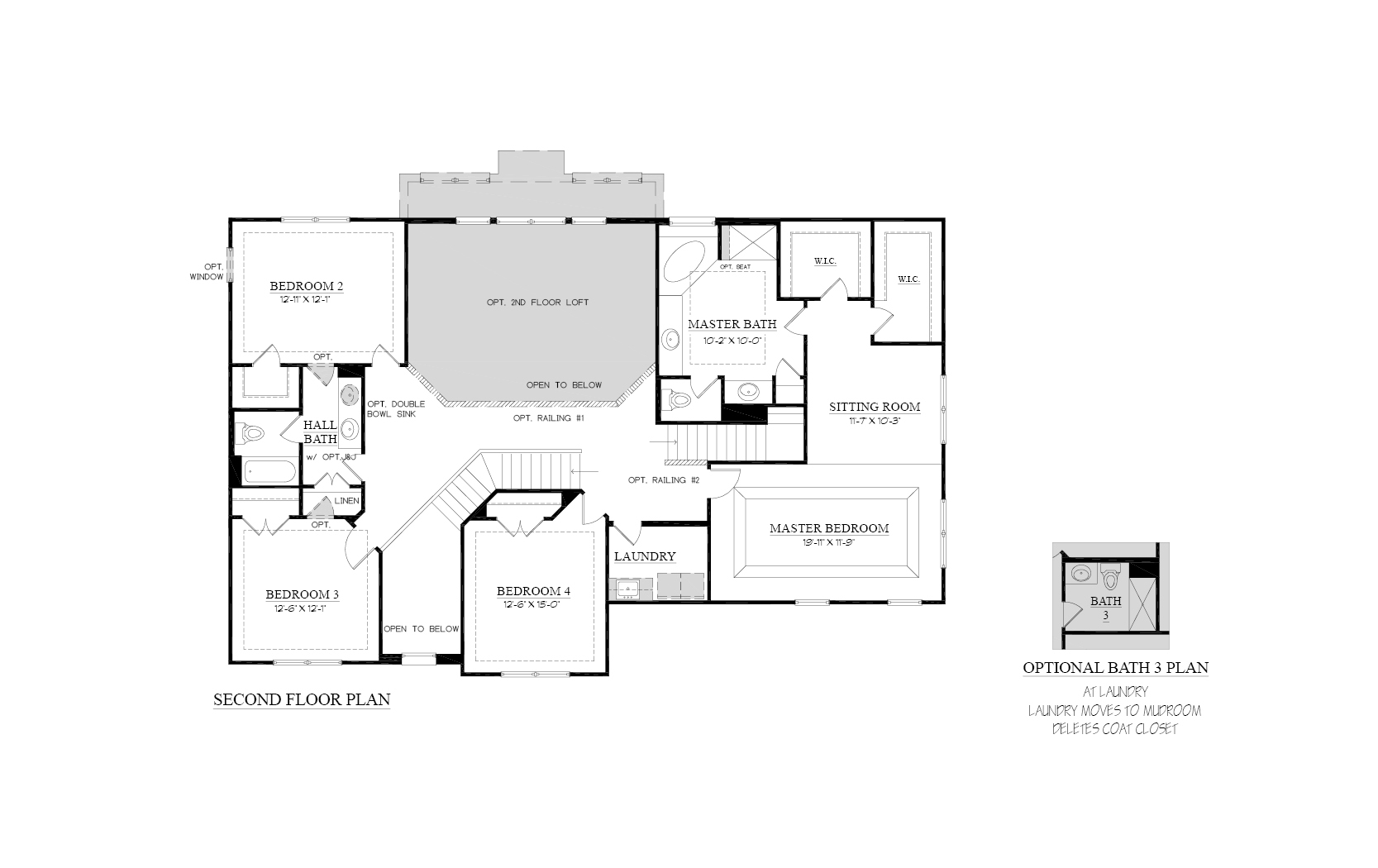 2nd Floor Floorplan of Cascade Model Home for Sale
