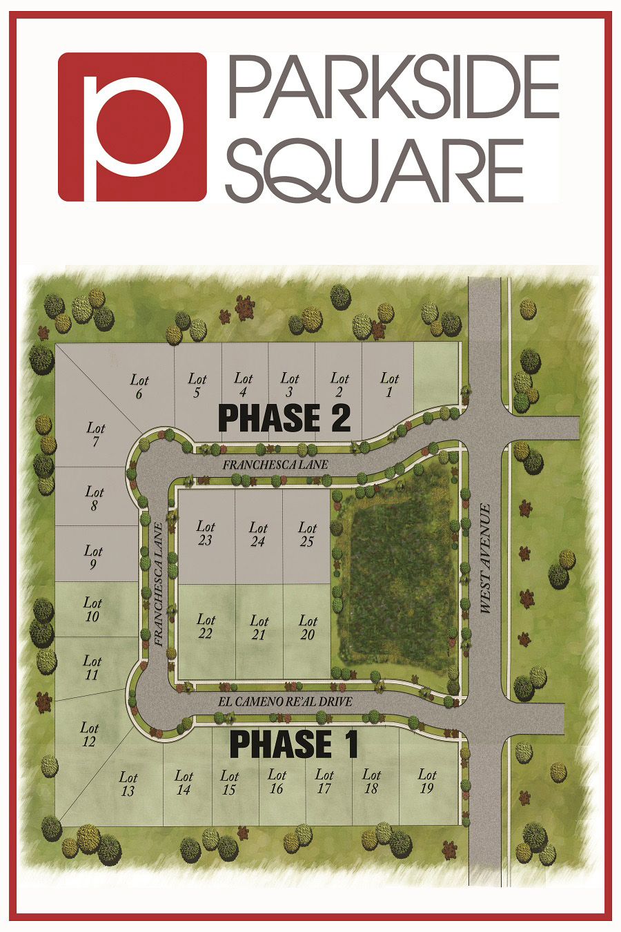 Parkside Square Site Map
