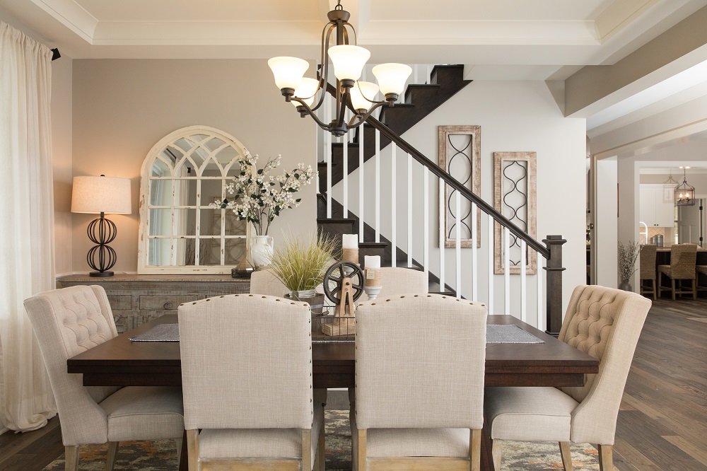 Dining Area in Custom Beechen and Dill Home