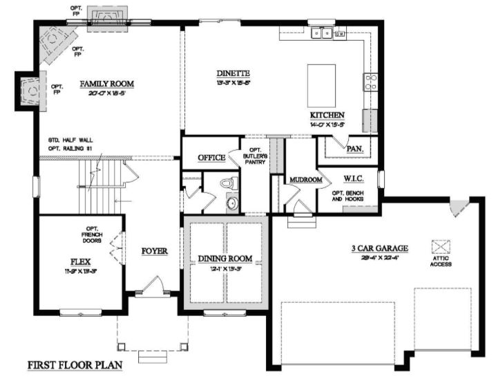 1st Floor Home Plan in Orland Park IL