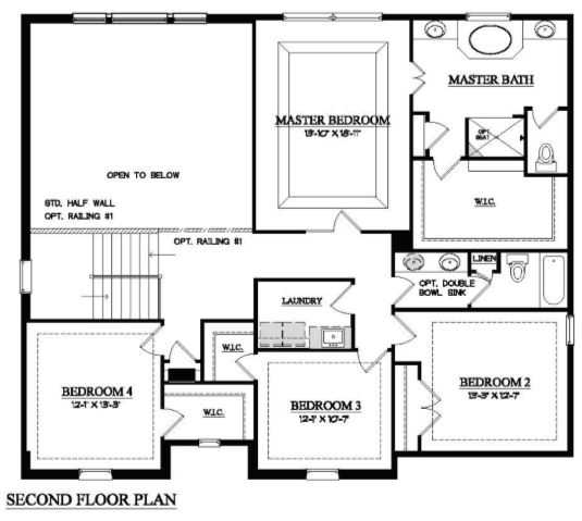 2nd Floor Home Plan in Orland Park IL