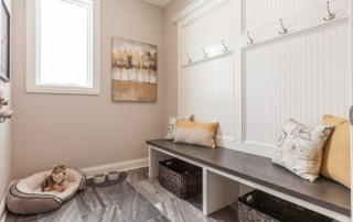 Mudroom in Beechen and Dill Home in Orland Park