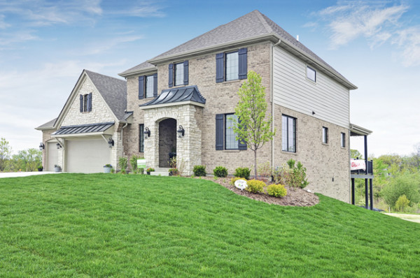 Front Lawn of New Home for Sale in Orland Park